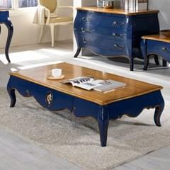 젠틱가구 로즌 엔틱 거실 소파테이블 탁자 좌탁 블루