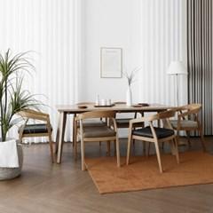 [오크] L2형 식탁/테이블 세트 : 화이트오크 1800_(1727094)