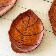 천연 옻칠 나뭇잎 쟁반(사이즈선택)