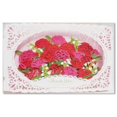 홀마크 카네이션 꽃 감사 입체카드-KTY3001