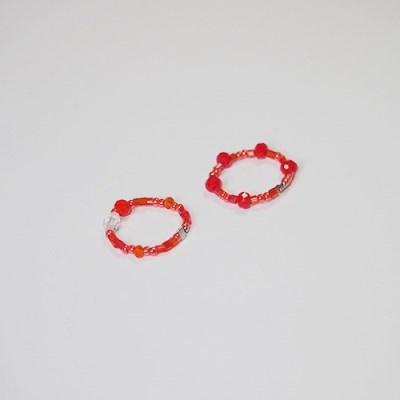 orange_color_ring 오렌지 비즈반지