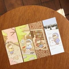 [팔베개] 사계 책갈피 4종