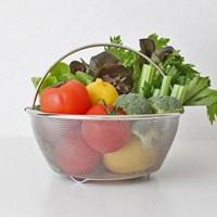 스텐 채반 과일 야채 소쿠리 손잡이 바스켓 육수 찜기 채망 바구니