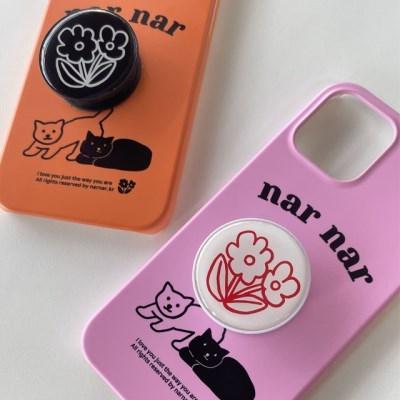 두마리 고양이_핑크,오렌지