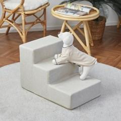 [모던하우스] 펫본 안전한 관절보호 강아지 계단 3단 크림