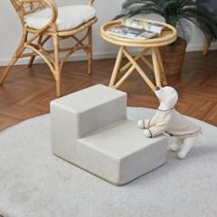 [모던하우스] 펫본 안전한 관절보호 강아지 계단 2단 크림