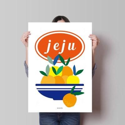 제주감귤2 M 유니크 디자인 인테리어 포스터 과일