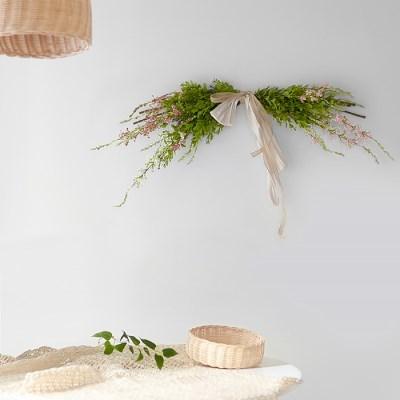 설유화 조팝나무 그린 갈란드
