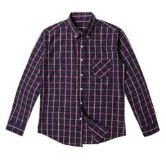 남자 사각 체크 편한 데이트룩 나들이 깔끔한 셔츠