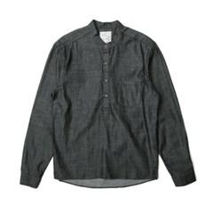 남자 헨리넥 데일리 빈티지 청청 패션 데님 셔츠