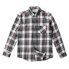 남자 소프트 체크 약기모 포켓 캔퍼스룩 데일리 셔츠