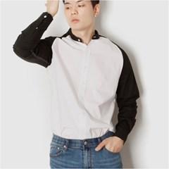 남자 나그랑 남친룩 배색 긴팔 데일리 포인트 셔츠