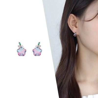 [라이트썸머] 별사탕 크리스탈 귀걸이_바이올렛(AGIE0506HBWV)