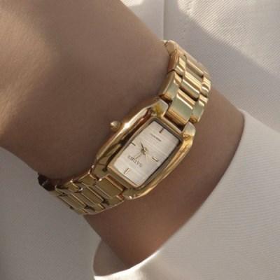 30대 여성 20대 여자 패션 손목 금장 시계 브릿 골드_(512875)