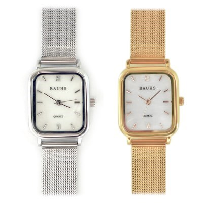 20대 여성 패션 손목시계 자개 금장 메쉬 시계 하버_(512880)