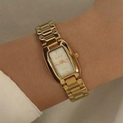 여성 팔찌 시계 메탈 금장 손목시계 바우스 브릿 골드_(512882)