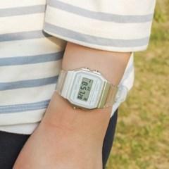 카시오 투명클리어 f91ws 디지털전자 여자학생남자 시계