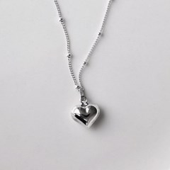 [Silver925] Heart ball chain necklace_(1539358)