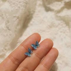[봄밤달] 블루 버터플라이 피어싱 (써지컬스틸)