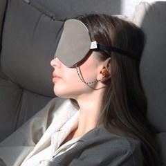 아이디어 수면 들리면 안대 귀마개 일체형 세트 숙면 냉온 찜질 안대