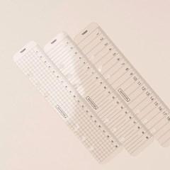 A5 6공 다이어리 투명 플라스틱 자 북마커