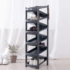 지그재그 신발정리대 진열대 11단 블랙