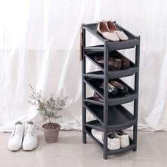 지그재그 신발정리대 진열대 9단 블랙