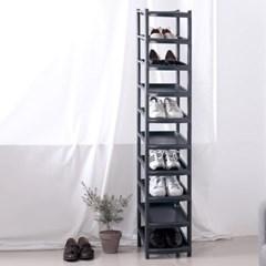 슬림 신발정리대 진열대 10단 블랙