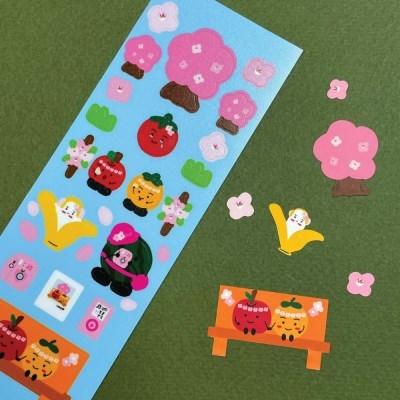 벚꽃 리무버블 스티커