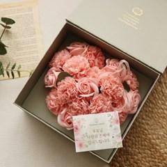 [무료배송] 러브레터플라워박스 - 하트비누꽃 [2color]_(973056)