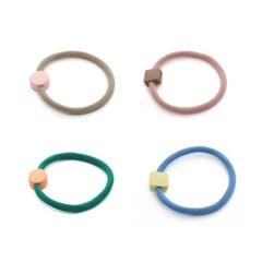 Color Block Hair Tie Set[4=1SET]