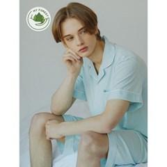 남성반팔잠옷 홈웨어 민트소다 반소매 페어 3136(남성)