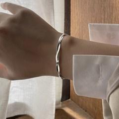 [silver 925] 여자 뱀줄 꼬임 두줄 체인 실버 데일리 팔찌