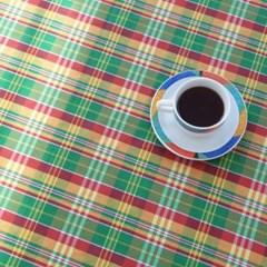 [만옥]몽콕3 가리개 커텐 m 유니크 체크 식탁보 레트로 커튼
