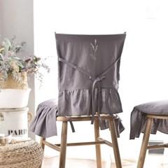 라벤더 자수 린넨 의자등커버 2color_(2508446)