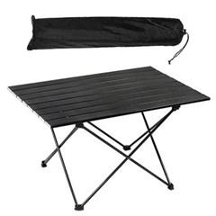 라지 블랙 경량 롤 테이블