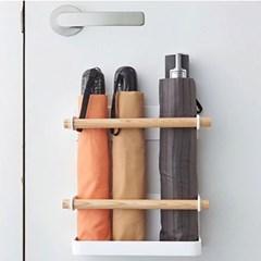 현관문 부착식 마그네틱 벽걸이 자석 우산꽂이 우산걸이 정리함 거치