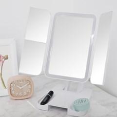 스노우 물결 LED 화장 거울(고급형)