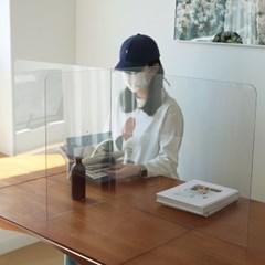투명 아크릴 식당 테이블 가림막 칸막이 [식탁 급식실 책상 파티션]