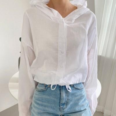 여자 여름 바캉스룩 비키니 데일리 썸머 후드 셔츠