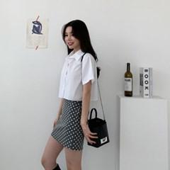 여자 여름 핏좋은 포인트주기좋은 도트 H라인 미니스커트