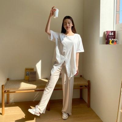 겟잇미 히프 여성 추리닝 컬러 밴딩 팬츠