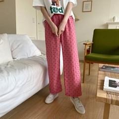 겟잇미 리라 수면 하트패턴 파자마 잠옷바지