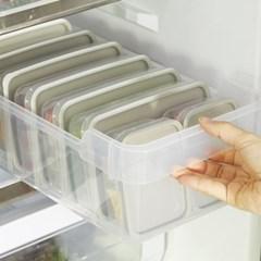 씨밀렉스 납작한 소분 냉장 냉동 보관용기 (소8EA+중4EA)