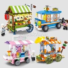 Semboblock 레고호환 미니블럭 판매푸드트럭4종 601101