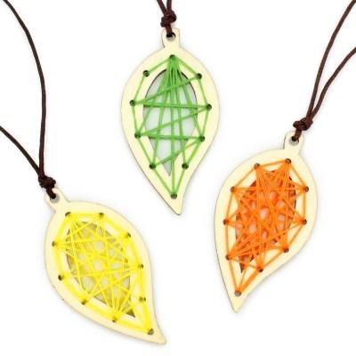 스트링 목걸이 만들기 (10개세트)-나뭇잎