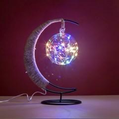 초승달 플라즈마 LED 무드등(레인보우) USB 생일선물 테이블조명