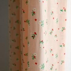 [바이아미] 살구꽃 커튼 방커튼 가리개 아이방 주방
