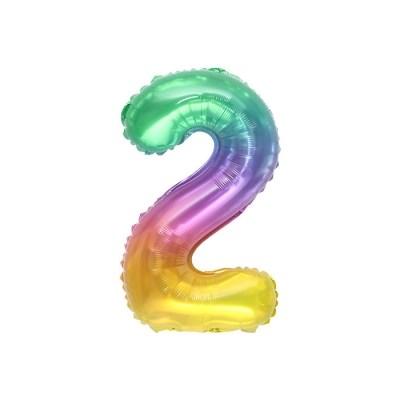 숫자은박풍선 소 레인보우 2