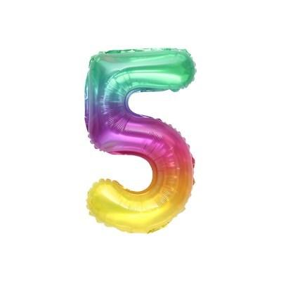 숫자은박풍선 소 레인보우 5